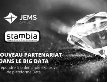 JEMS est fier d'annoncer l'intégration de STAMBIA comme fournisseur clef d'intégration de données pour ses plateformes big data !