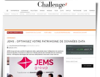 JEMS en interview pour le magazine Challenges !
